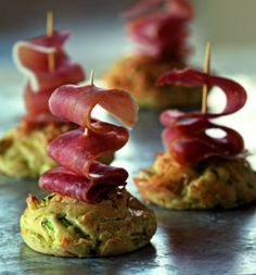 Mini cake courgettes et jambon cru