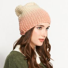 Ombre Pearl Knit Hat from Dotti