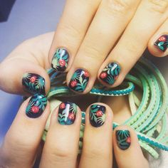 Summer nails #tropic #summer #summernails #summermanicure #turquoise