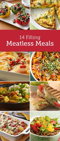 Whether you're looking to save calories or pennies, these meat-free meals deliver on both without skimping on flavor. We're willing to bet no one will even notice they're technically vegetarian! Best Recipes on Cooking Quinoa in a Crock Pot Veggie Dishes, Veggie Recipes, Whole Food Recipes, Diet Recipes, Healthy Recipes, Venison Recipes, Fruit Recipes, Diabetic Recipes, Vegetarian Dinners