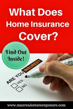 What Does Insurance Cover? Great Tips For First Time Home Buyers Getting Their First Insurance Policy: http://www.maxrealestateexposure.com/home-insurance-first-time-buyer/