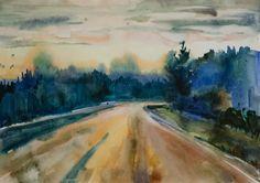 Old road 2014 42x59cm
