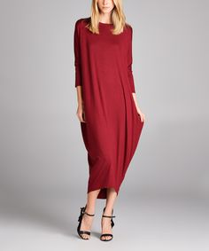 Look at this Love, Kuza Wine Dolman Midi Dress on #zulily today!