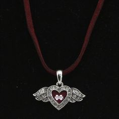 Mississippi State Bulldogs Ladies Winged Heart Suede Necklace  @Fanatics ®  #FanaticsWishList