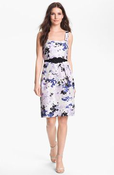 Alex Evenings Embellished Print Shantung Dress available at #Nordstrom $145
