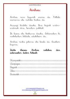 Ulermena Maila, Sheet Music, Math Equations, Frases, Reading Comprehension, Reading Comprehension, Spanish Teaching Resources, Preschool Writing, Preschool Printables