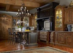 Wood Old World Tuscan Kitchen Style Tuscan Decorating Style Old Tuscan Style Homes, Tuscan House, Küchen Design, House Design, Design Ideas, Style Toscan, Tuscan Kitchen Design, Tuscany Kitchen, Old World Kitchens