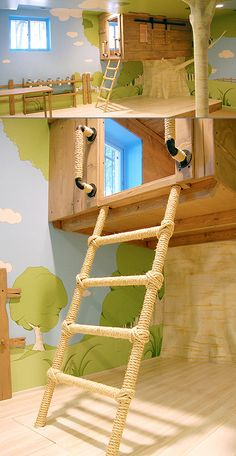 A treehouse bedroom for the kids! Now THIS is COOL!