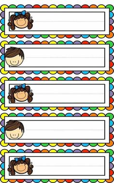 Badges for Kindergarten Children - Preschool Children Akctivitiys Classroom Labels, Classroom Rules, Classroom Organization, Classroom Decor, Kindergarten Classroom Setup, Classroom Borders, Kindergarten Writing, School Border, School Labels