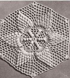 Vintage Crochet PATTERN to make - Pineapple Popcorn Star Flower MOTIF Bedspread. This is a pattern and/or instructions to make the item only. - I Crochet World Vintage Crochet Patterns, Afghan Crochet Patterns, Crochet Motif, Crochet Hooks, Free Crochet, Crochet Blankets, Crochet Granny, Bobble Stitch Crochet, Vintage Bedspread