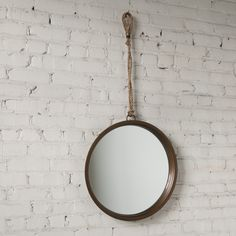 Higgins Round Mirror with Rope Hanger | Schoolhouse Electric & Supply Co.