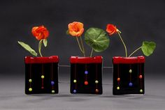 Fused Glass, vases