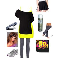 """""""80s costume Pub Run"""" by lindsey-stewart on Polyvore"""
