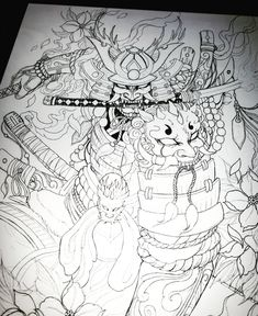 C Tattoo, Body Art Tattoos, Samourai Tattoo, Japanese Tattoo Designs, Japan Tattoo, Thai Art, Samurai Art, Asian Art, Aiko