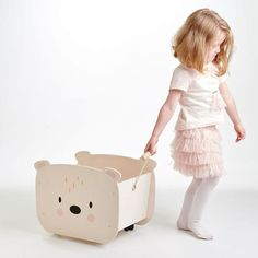 Polar Bear Face, Cute Polar Bear, Bear Toy, Toy Storage Boxes, Storage Cart, Wooden Toy Boxes, Personalised Wooden Toy Box, Pull Along Toys, Baby Toys