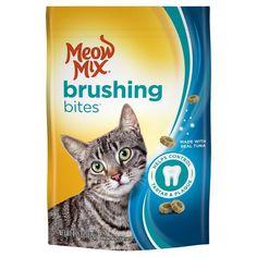 Meow Mix Brushing Bites with Real Tuna Cat Treats - 4.75 oz