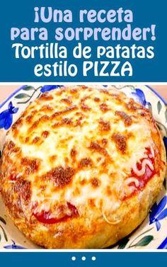 ¡Una receta para sorprender! Tortilla de patatas estilo PIZZA #receta #pizza #tortilla