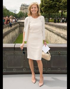 Claire Chazal at the Dior Couture fashion show