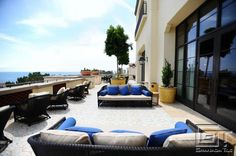 Granada Tile's St. Tropez cement tile compliments outside deck at Terranea Resort
