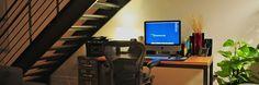 Clean & simple.  Something my desk NEVER looks like.