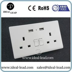 singapore 13a dual usb wall switch and socket plug