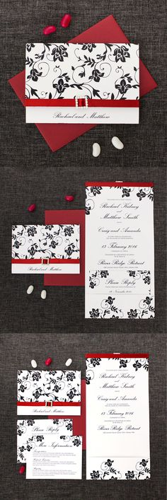 red white and black wedding invitation http://bemyguest.co.nz/archives/item/classic-elegant-wedding-invitations/