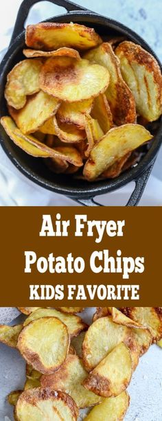 Crunchy perfect potato chips with no guilt because they are made in an air fryer. You can have a bowl or even two. Crunchy perfect potato chips with no guilt because they are made in an air fryer. You can have a bowl or even two. Air Fryer Oven Recipes, Air Frier Recipes, Air Fryer Dinner Recipes, Air Fryer Recipes Potatoes, Air Fryer Recipes Vegetables, Recipes With Potatoes, Air Fry Potatoes, Air Fryer Recipes Appetizers, Yellow Potatoes