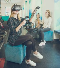 Vienna has a virtual reality bar where you can have a drink and try out VR for free - Lonely Planet Lonely Planet, Virtual Reality, Vienna, Planets, Sporty, Fancy, Free, Style, Swag