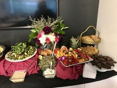 NYX Cosmetics Buffet 8/21/17 Grilled Veggie Salad w/ Red Wine Vinaigrette, Fruit Platter, Chocolate Chip/Peanut Butter/Oatmeal Raisin Cookies & Raspberry Brownies