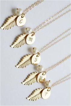 bridesmaid necklaces :: love!