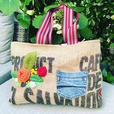 Pimp Your Shirt, Foto Transfer, Burlap, Quilt, Reusable Tote Bags, Scrappy Quilts, Appliques, Repurpose, Bags