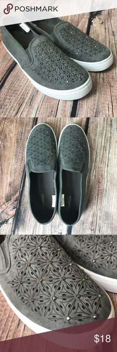 Maurice's Peony embellished laser cut slip on shoe Brand new never worn Maurice's Peony slip on sneakers. Size 11 Maurices Shoes
