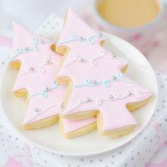 Pastel Christmas Tree Sugar Cookies by Sweet Bake Shop
