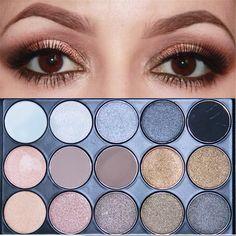 11 Colores Shimmer 4 Colores Mate Paleta de Maquillaje Profesional Cosméticos Tono de La Tierra de Sombra de Ojos paleta de Sombra de Ojos Paleta