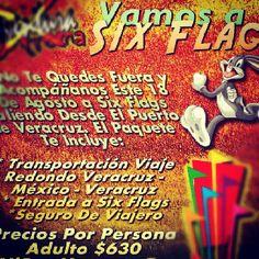 Vamos a Six Flags este 18 de agosto saliendo de Veracruz http://www.turismoenveracruz.mx/2012/07/vamos-a-six-flags-este-18-de-agosto-de-2012/