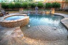 Everyone loves high-end pool designs, aren't they? Right here are some leading list of high-end swimming pool picture for your ideas. These dreamy pool design concepts will change your backyard into an outdoor oasis. Pools For Small Yards, Backyard Ideas For Small Yards, Small Swimming Pools, Backyard Pool Designs, Small Backyard Landscaping, Swimming Pool Designs, Modern Landscaping, Pool For Small Backyard, Landscaping Ideas