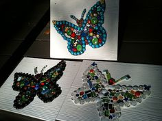 Katie's Mosaic Projects... Butterflies and more! :): Memorial Butterflies