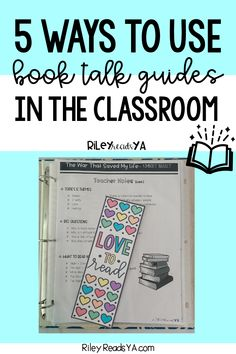 5 Ways To Use Book Talk Guides In The Classroom   RileyReadsYA   Do you want to be more of an expert in your classroom when it comes to middle grade novels? Do you wish you could feel more confident in recommending titles to students, but just don't have the time to read everything? Click here to read how book talk guides can solve these problems and more! #middleschoolela #independentreading #classroomlibrary English Lesson Plans, Free Lesson Plans, English Lessons, Middle School Classroom, English Classroom, High School Students, English Language, Language Arts, Reading Projects