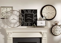 Nickel and Black Wall Clock