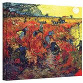 "Found it at Wayfair - ""Red Vineyard at Arles"" by Vincent Van Gogh Painting Print on Canvas"