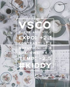 Tổng hợp Công thức VSCO no-filter đẹp - P2 - Công thức màu