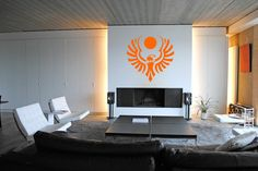 DUNE House Atreides symbol wall decal science fiction art for kids room play room and dune lovers interrior decor by Vinyland on Etsy https://www.etsy.com/listing/249319200/dune-house-atreides-symbol-wall-decal
