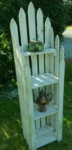 Repurposed Fence Posts Shabby Shelf in Renton, WA (sells for $50) #woodworkingbench