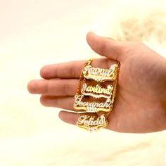 #uniquegift for her. #personalizedjewelry #namenecklace #uniquejewelry #simplejewelry #necklaceset #necklaces Name Jewelry, Jewelry Gifts, Jewellery, Ring Bracelet, Ring Necklace, Custom Name Necklace, Simple Jewelry, Jewelry Trends, Personalized Jewelry