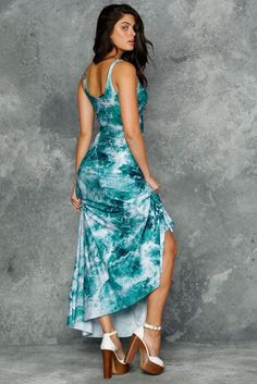 XL Troubled Waters Maxi Dress - Discontinued/museum