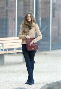#opaque_tights #high_knee_boots #olivia_palermo