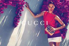 Gucci Cruise 2012 ad with Karmen Pedaru