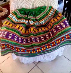 Vintage Colorful Multi-Layered Patchwork *Seminole* Miccosukee* Long Skirt