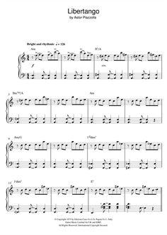 Astor Piazzolla: Libertango - Partition Piano Facile - Plus de 70.000 partitions à imprimer !