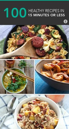 100+ Healthy Meals Made in 15 Minutes or Less #healthy #easy #recipes